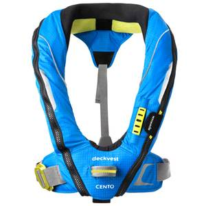 Deckvest Cento Junior Inflatable Life Jacket, Pacific Blue