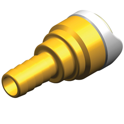 "Hose Connector Tube 15mm to 1/2"" (Brass)"