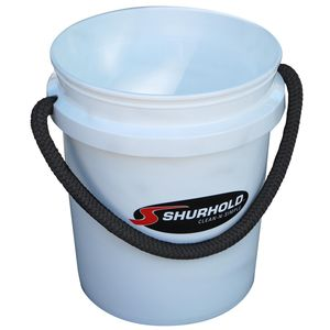 5 Gallon Plastic Bucket, White