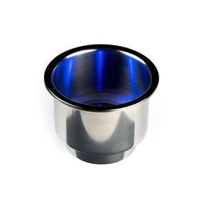 LED Lighted Recessed Cup Holder, Blue
