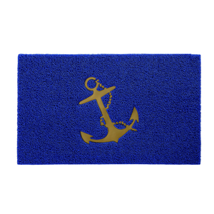 Anchor Boarding Mat, Blue/Gold