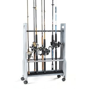 Driftwood Series Rolling Rod Rack