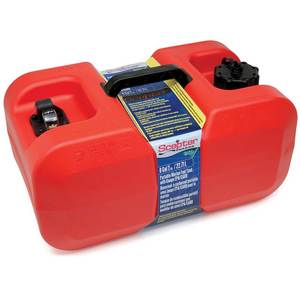 Under-Seat Portable Fuel Tank, 6 Gallons