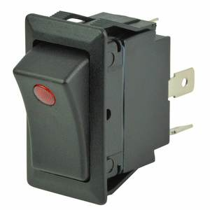 Rocker Switch, One LED, Off/On, SPST