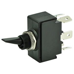 Toggle Switch, On/Off/On, DPDT