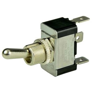 Chrome Plated Toggle Switch, On/Off/On, SPDT