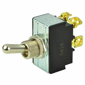 Chrome Plated Toggle Switch, Off/On, DPST
