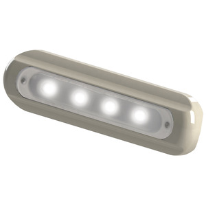 4-LED Flat-Mount Deck Light, White Housing