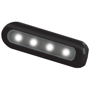 4-LED Flat-Mount Deck Light, Black Housing