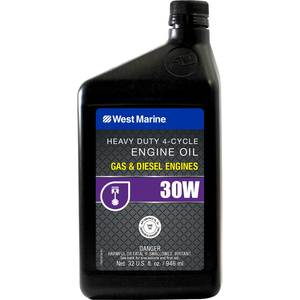 Premium SAE 30W 4-Cycle Heavy Duty Engine Oil, Quart