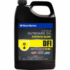DFI Direct Fuel Injection Synthetic Blend TC-W3 Outboard Oil, Gallon