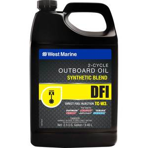DFI Direct Fuel Injection Synthetic Blend TC-W3 Outboard Oil, 2.5 Gallons