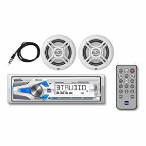 MXCP47BT Marine Digital Media Receiver and Speaker Package