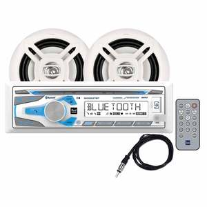 MCP1237BT Marine AM/FM/CD Receiver and Speaker Package