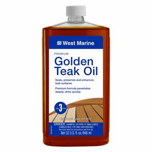 Premium Golden Teak Oil, Quart