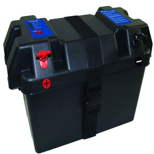 Marine Smart Battery Box w/LED Battery Status Indicator