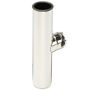 Stainless Steel Clamp-on Single Rod Holder