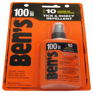 Ben's 100 MAX Tick & Insect Repellent, 3.4 oz.
