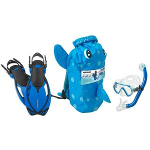 Sea Pals Puffer Themed Junior Snorkel Set, Large/X-Large