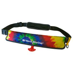 Ultra-Slim Manual Inflatable Life Jacket Belt Pack, Tie Dye