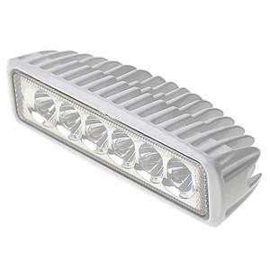 Six LED Aluminum Spreader/Docking Light with Stainless Steel Bracket, White