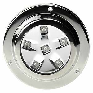 Round Six LED Underwater Light with Stainless Steel Bezel, White