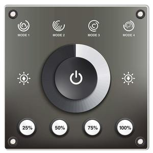 Helm Mount LED Dimmer Controller, Water Resistant, Touch Sensitive, Multifunction