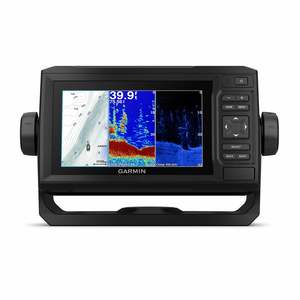 echoMAP Plus 63cv Chartplotter GPS Combo with CV20-TM Transom Mount Transducer and LakeVu HD Inland Charts