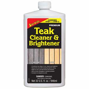 Premium One Step Teak Cleaner & Brightener, 32 oz.