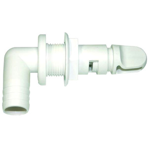 "90° Aerator Spray Head with Shut-off Valve, 3/4"" Barbed"