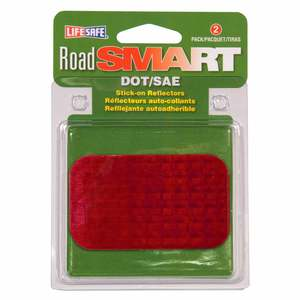 "2"" X 3 1/2"" Road Smart Stick-On Reflectors, 2-Pack"