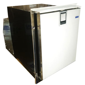 Low Profile Crescent White Ice Maker, Stainless Steel Door, 115V