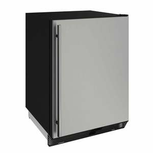 "24"" Stainless Solid Door Refrigerator"