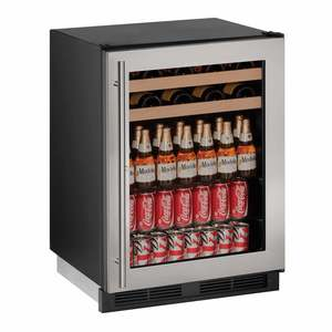 "24"" Stainless Beverage Center, With Lock"