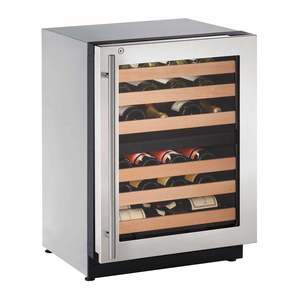"24"" Stainless Dual Zone Wine Captain, RHH Lock"