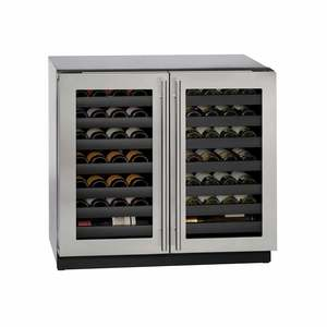 "36"" Stainless Dual Zone Wine Captain"