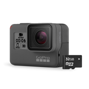 HERO6 Black 4K Ultra HD Waterproof Camera with 32GB microSD Card