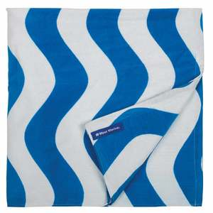 Blue Wave Cotton Towel