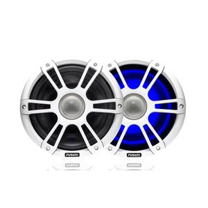SG-CL65SPW 230 Watt Coaxial Signature Speakers Sport White with LED Illumination