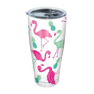 30 oz. Flamingo Pattern Tumbler with Lid
