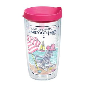 16 oz. Simply Southern® Barefoot and Happy Tumbler with Lid
