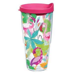 24 oz. Flamingo Fun Tumbler with Lid