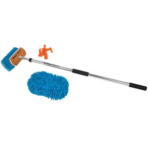 Admiral Deck Brush Kit Combo with Sponge & Boat Hook Accessory