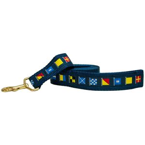 "3/4"" Wide Nautical Code Flags Dog Leash"