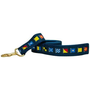 "1 1/4"" Wide Nautical Code Flags Dog Leash"