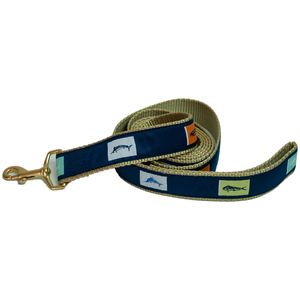 "1 1/4"" Fish Flags Dog Leash"