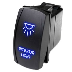 Logo Rocker Switch, Interior Light, Blue