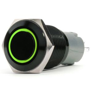 19mm Two Position Switch, Green