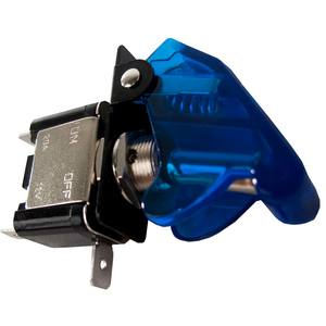 LED Toggle Switch with Cover, Blue