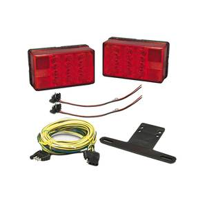 LED Waterproof 4 x 6 Low Profile Taillight Kit